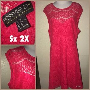 FOREVER 21+ Lace dress lined sz 2X